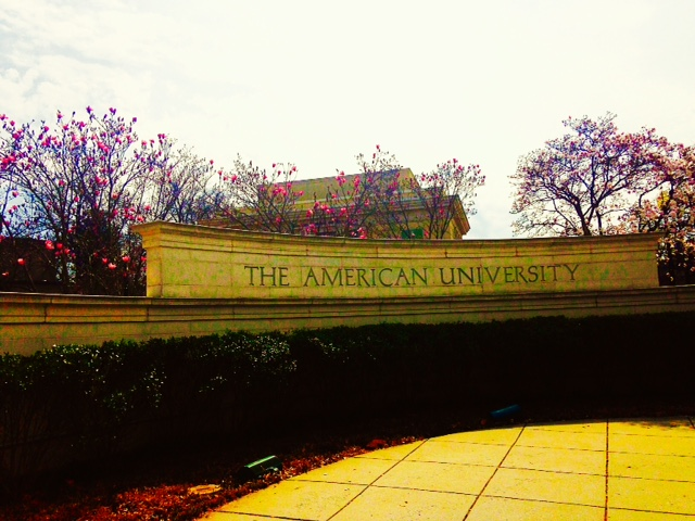 Spring at American University campus