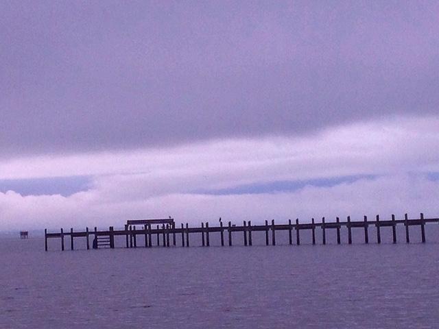 A warm weather storm on a Cheasapeake Bay horizon.