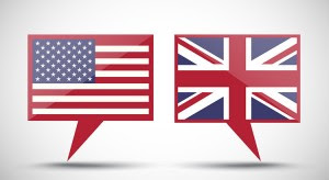 speech bubble icons with national flags