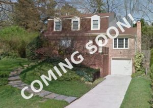 "Colonial home in Maplewood with ""Coming Soon"" sign"